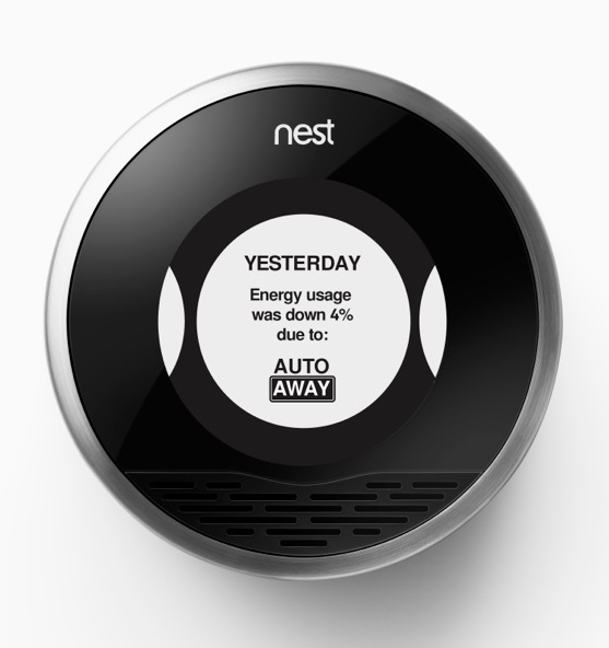 Nest showing energy usage