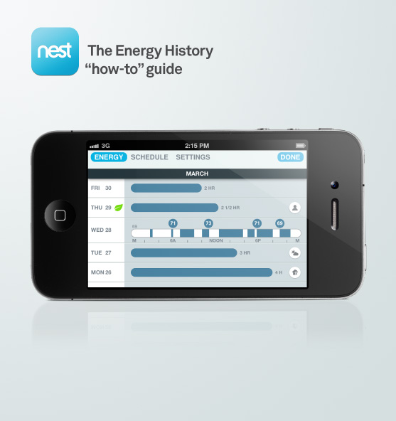 Saving energy with energy history.