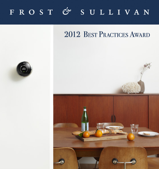 Nest receives Frost & Sullivan award.