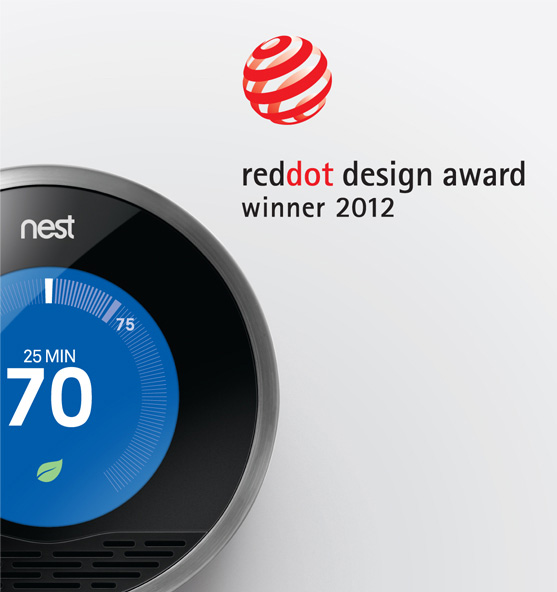 Nest wins Red Dot design award.