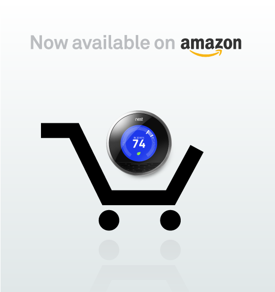 Nest thermostat now available on Amazon.