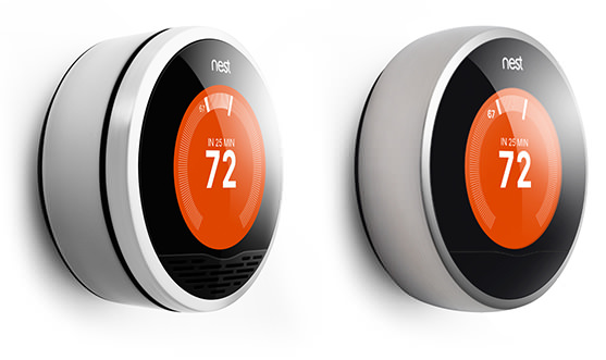 Comparison of original verses new Nest thermostat