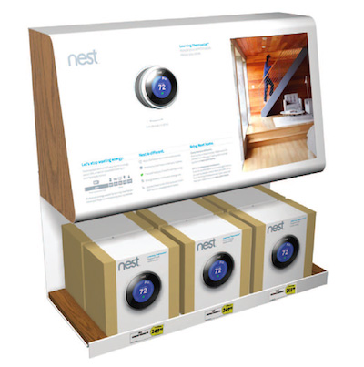 Check out the Nest Learning Thermostat display at Best Buy