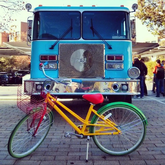 The Nest Fire Truck looking fancy while visiting Google Ventures