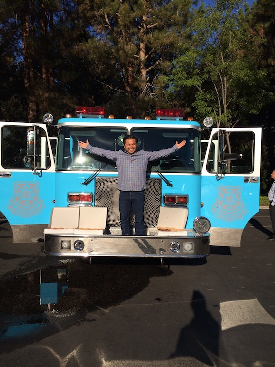 Jubilant Jose on the Nest Fire Truck