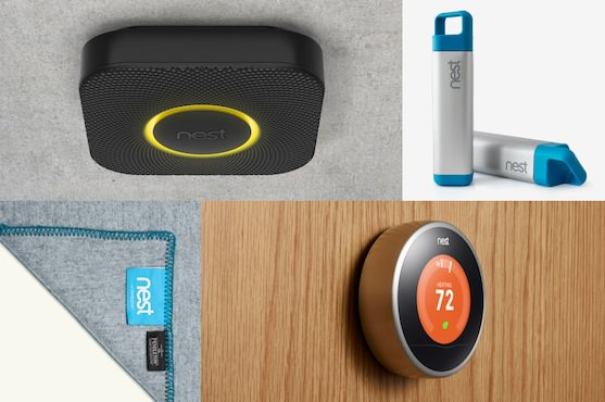 The best gifts: the Nest Learning Thermostat, Nest Protect smoke and CO alarm, Nest blanket and Nest water bottle