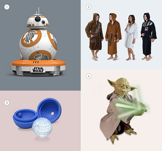 Gifts for Star Wars geeks, specifically.