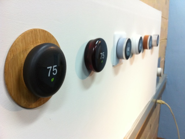 Here are some very early designs for the first generation Nest Learning Thermostat.