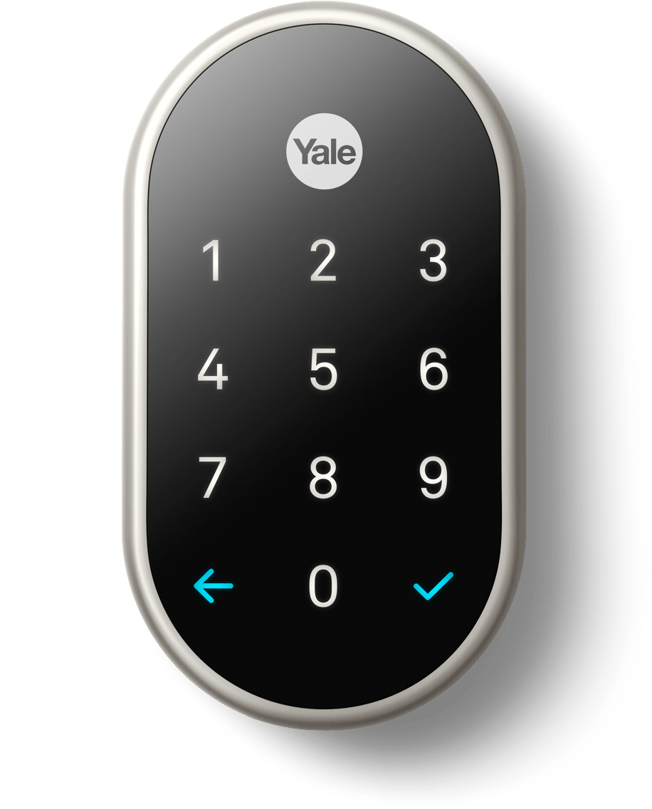 Nest x Yale Smart Lock with Nest Connect - Satin Nickel