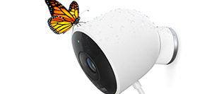 Nest Cam Outdoor with butterfly