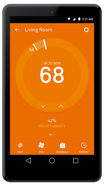 How to control your nest thermostat with the nest app for The house app