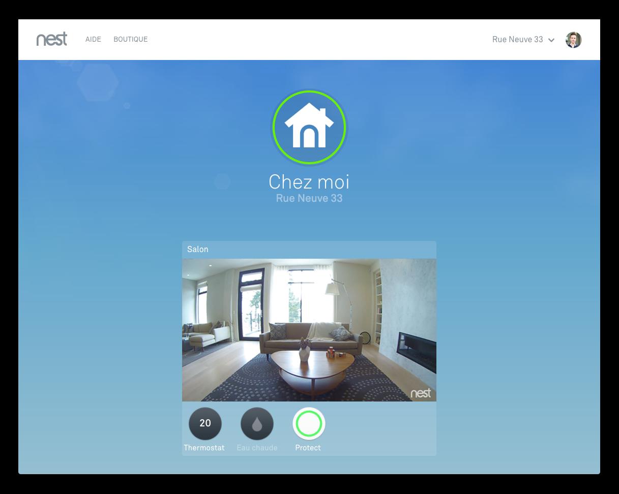 utiliser l 39 application nest sur un ordinateur windows ou mac. Black Bedroom Furniture Sets. Home Design Ideas