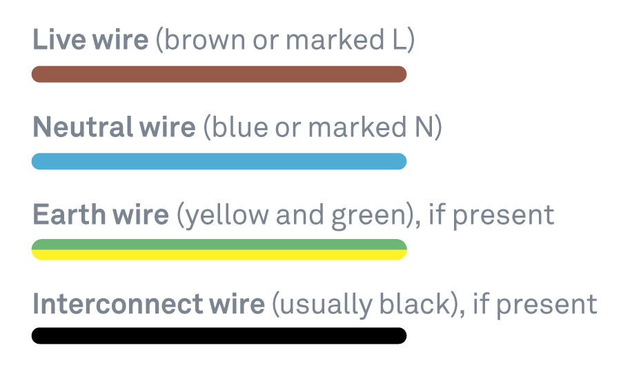 how do i install my nest protect each wire in the ceiling or wall will have two to four differently coloured conductors their colours vary based on their age
