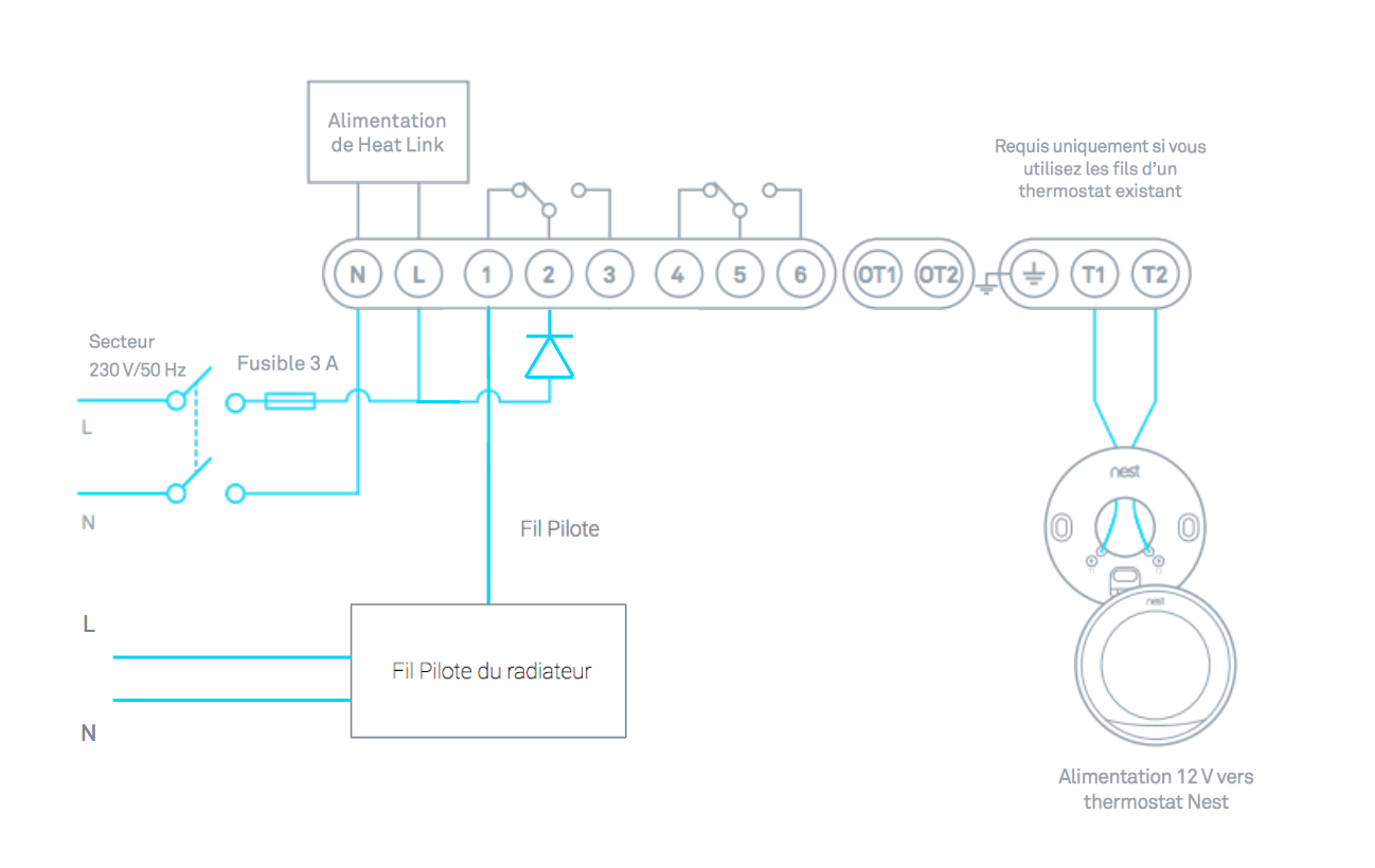 How To Install Your Nest Thermostat Danfoss Room Wiring Diagram For Instance Pro May Need An Additional Fil Pilote Diode Sold Separately Depending On Current System