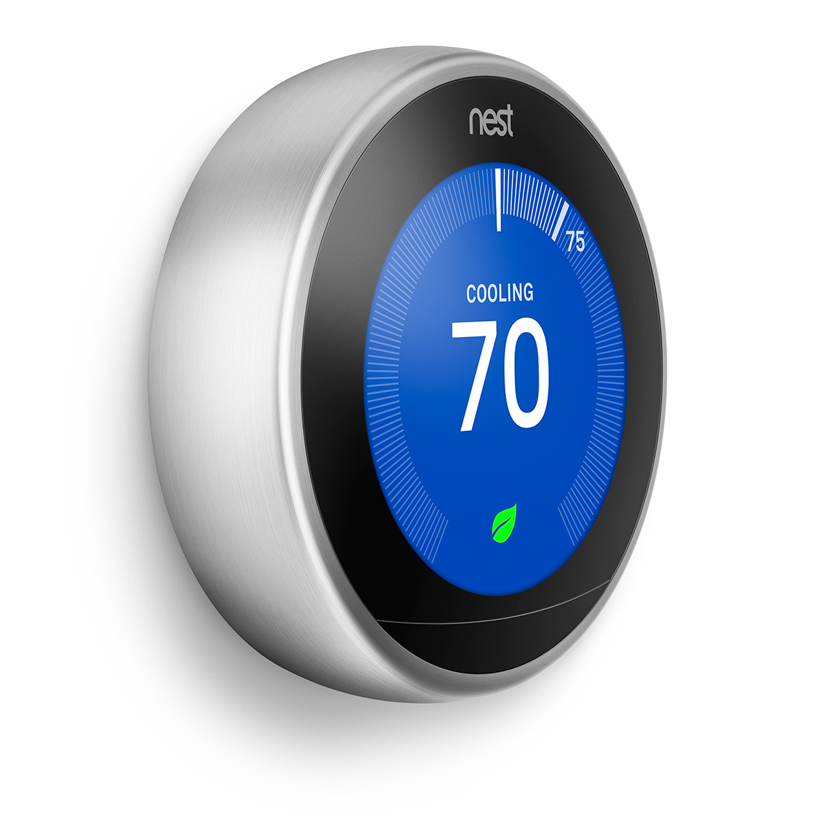 Google Nest Learning Thermostat (3rd Gen) - Stainless Steel