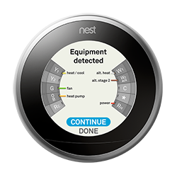 learning thermostat advanced installation and setup help for verify the equipment detected and wiring is correct for your system