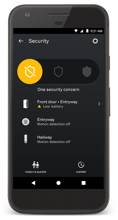 How to check if Nest Detect's battery is low
