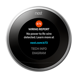 how to fix nest e24 wiring report