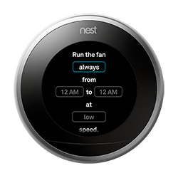 How To Control Your Fan With The Nest Thermostat